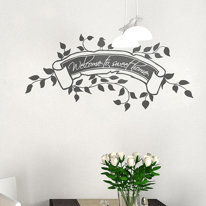 레터링스티커 책상꾸미기 벽장식스티커 부동산인테리어 S171 스윗홈(반제품A)