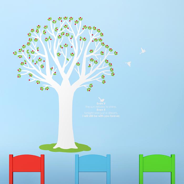 아기방벽지스티커 벽스티커 S449 열매나무(완제품C)